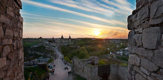 Old castle on the sunset Royalty Free Stock Photography
