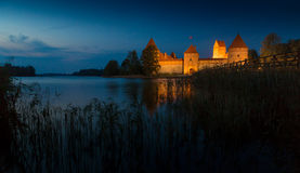 Old castle in sunset time. Royalty Free Stock Photo