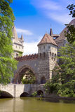 Old castle, surrounded by romantic gardens. Royalty Free Stock Photography
