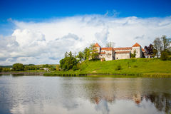 Old castle surrounded with summer nature Stock Photos
