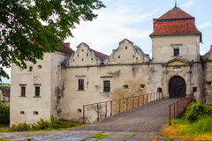 Old castle surrounded with summer nature Royalty Free Stock Image