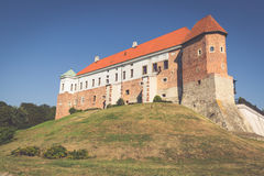 Old castle from 14th century in Sandomierz is located by Vistula Royalty Free Stock Images