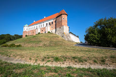 Old castle from 14th century in Sandomierz is located by Vistula Stock Photo