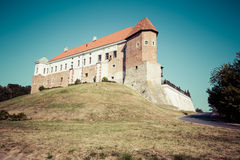 Old castle from 14th century in Sandomierz is located by Vistula Royalty Free Stock Photo