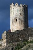 Old castle tower. Old stone castle tower, france Royalty Free Stock Image