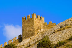 Old castle tower. Royalty Free Stock Images