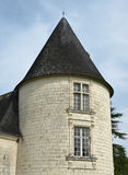 Old castle tower. In french province Royalty Free Stock Image