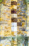 Old castle tower brick wall background in uk.  royalty free stock images