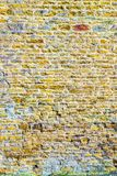 Old castle tower brick wall background in uk.  stock image