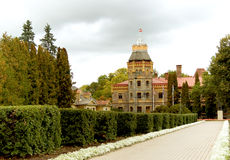 Old castle with a tower in Sigulda Stock Image