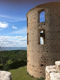 Old castle tower in Sweden stock image