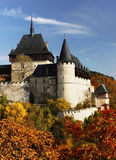 Old Castle. Towers of old castle in autumn colors stock photos
