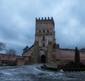 Old castle in town Lutsk in winter Royalty Free Stock Photography