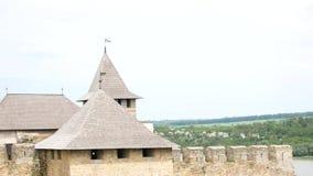 The old castle in Ukraine. Khotyn. The old castle in Ukraine. Khotyn stock video
