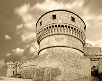 Old castle. Under cloudy sky Stock Image