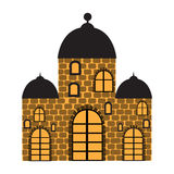 Old Castle. Vector illustration with the image of an old castle Royalty Free Stock Photography