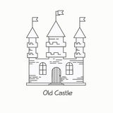 Old castle vector illustration Royalty Free Stock Photos
