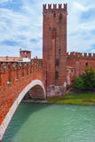 Old castle in Verona Stock Photo