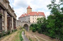 Old castle Veveri, Czech Republic, Europe Stock Image
