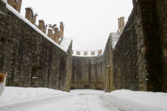 Old castle Vigoleno Royalty Free Stock Photography