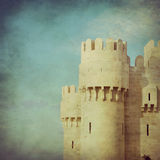 Old castle in vintage Stock Photos