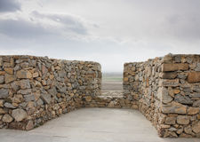 Old castle wall. Photo of old castle wall against sky stock image