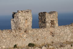Old castle wall Stock Photo