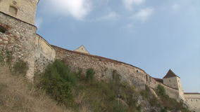 Old castle wall stock video
