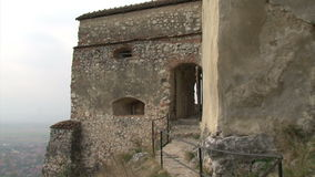 Old castle wall stock footage