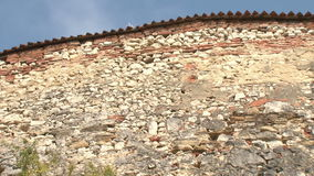 Old castle wall stock video footage