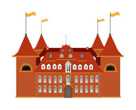 Old castle on white background - vector illustrati Stock Images