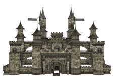 Old Castle on White Royalty Free Stock Photos
