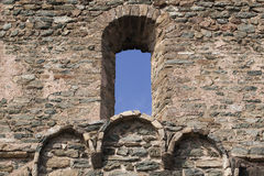 Old castle window Royalty Free Stock Photo