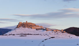 Old castle in winter Royalty Free Stock Photos