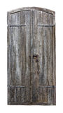 Old castle wooden door on white background Royalty Free Stock Images