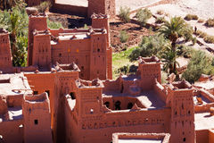 Old castles in the village Ait-Ben-Haddou Stock Image