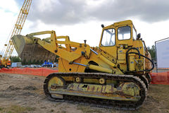 Old Cat 977 Crawler Dozer on Display Royalty Free Stock Photo