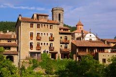 Old catalan village.  Besalu. Catalonia, Spain Stock Photo