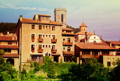 Old catalan village.  Besalu Stock Images
