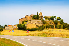 Old catalan village. Castellar de la Ribera Stock Image