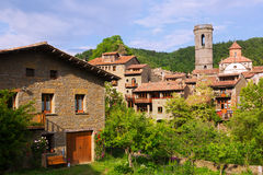 Old catalan village in summer.  Besalu Royalty Free Stock Image