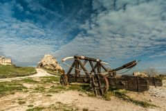 Old catapult Royalty Free Stock Photos