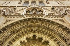 Old catedral in zagreb.detail Stock Images