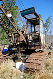 Old caterpillar earth mover. Old rusty caterpillar earth mover stock images