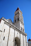 Old cathedral. Old tower of cathedral in Trogir Stock Photo