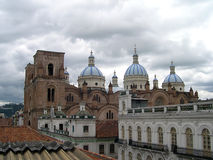 Old cathedral. In center of Cuenca, Ecuador Stock Photos