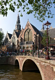 Old cathedral in Amsterdam Stock Image