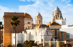 Old Cathedral of Cadiz Royalty Free Stock Images