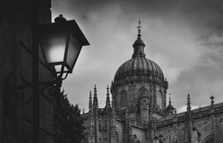 Old Cathedral, Catedral Vieja, in Salamanca, Castilla y Leon, Spain - UNESCO World Heritage Site Stock Photo