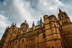 Old Cathedral, Catedral Vieja, in Salamanca, Castilla y Leon, Spain - UNESCO World Heritage Site Royalty Free Stock Photo